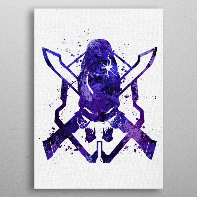High-quality metal print from amazing Video Game Paint collection will bring unique style to your space and will show off your personality. metal poster