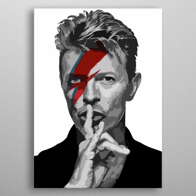 Vector art of the musician David Bowie. metal poster