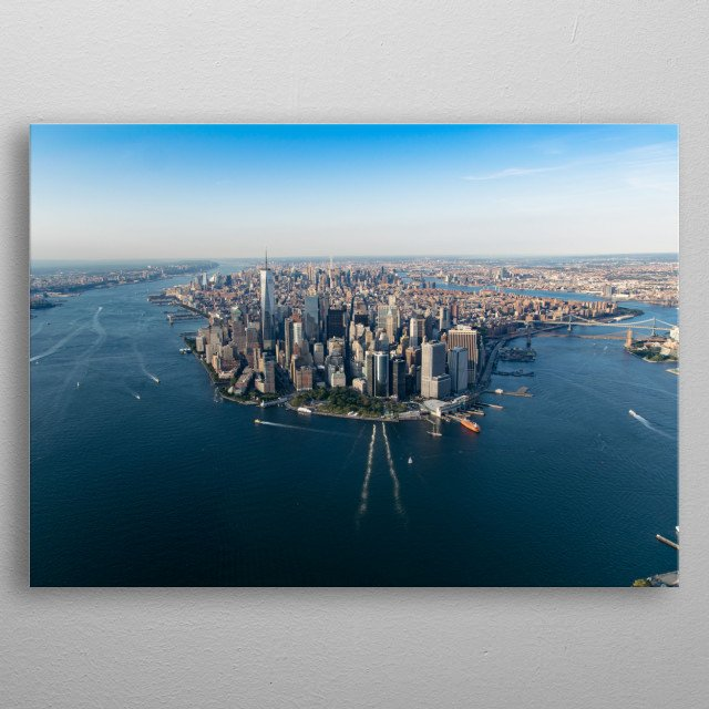 """""""Concrete Jungle Dreams are Made Of"""" - New York City from the sky metal poster"""