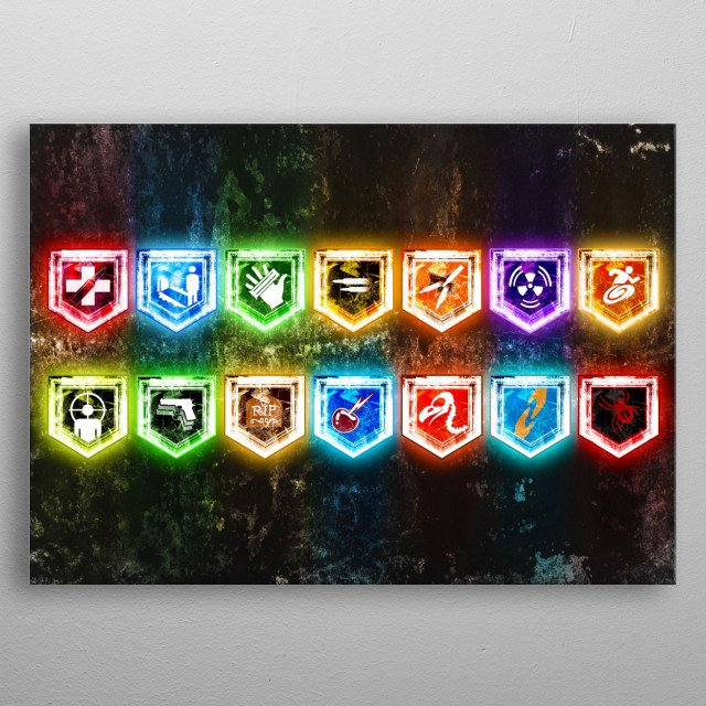 All Zombie Perks metal poster