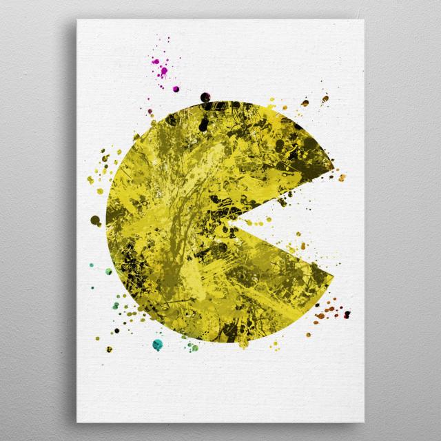 Pac-Man metal poster