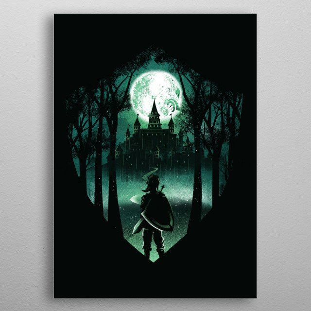 Hyrule Hero metal poster