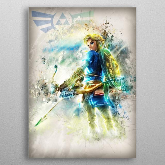 Link - Blue metal poster