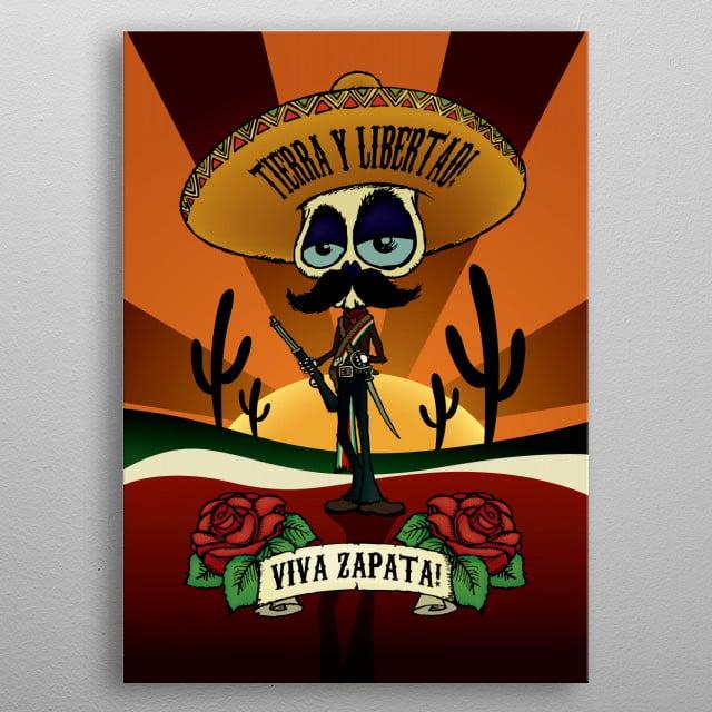 Viva Zapata! metal poster