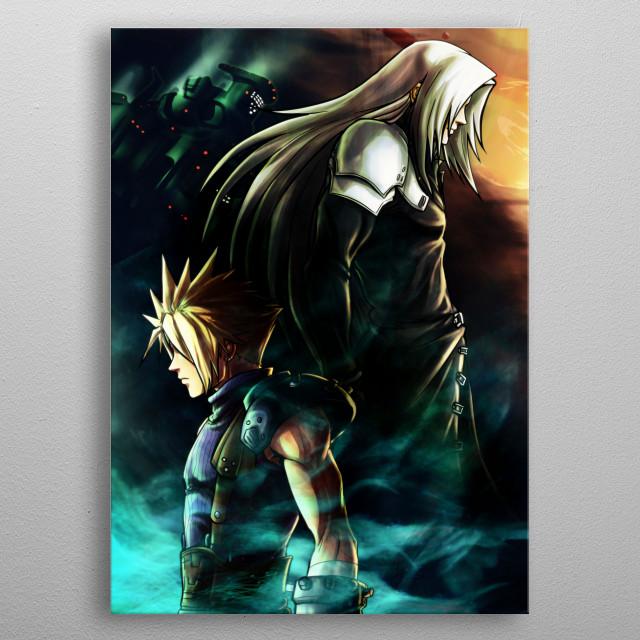 Final Fantasy VII fanart  metal poster