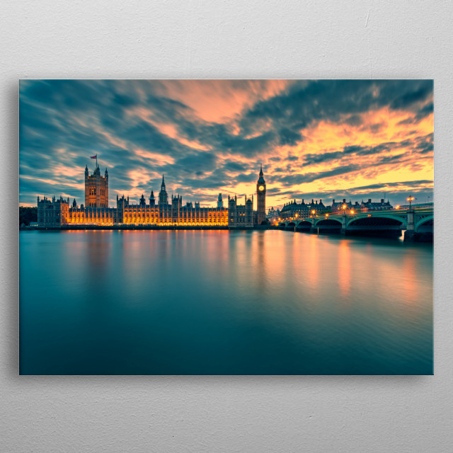 High-quality metal print from amazing Cityscapes collection will bring unique style to your space and will show off your personality. metal poster