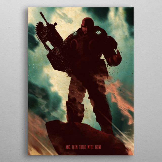 Marcus Fenix metal poster