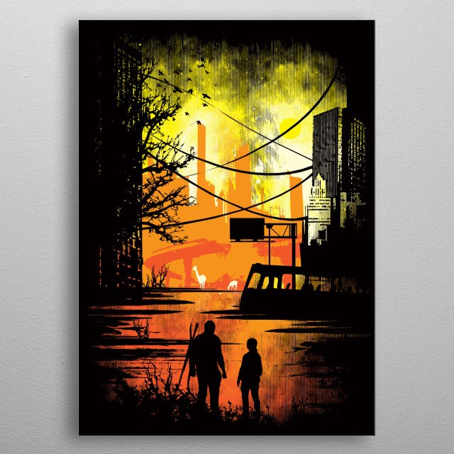"""A parrody inspired by the game """"The Last Of Us."""" I hope you like it! :) metal poster"""