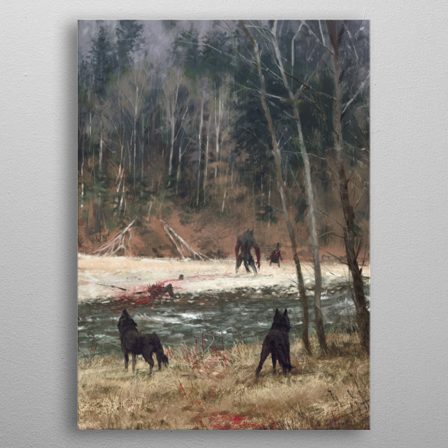 'the colors of autumn' the power of wild nature full class! new painting from my 'Wolfpack - 1863' world, cheers! metal poster