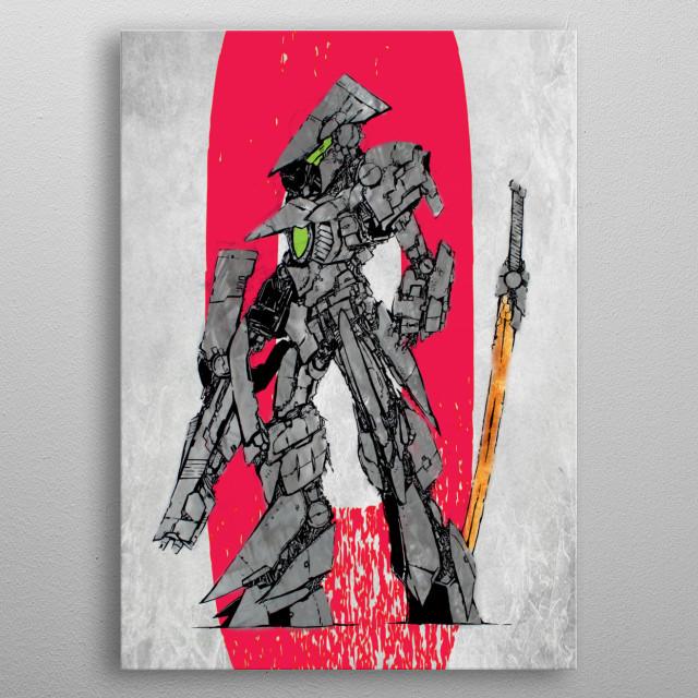 """""""N(0)-Dachi Unit"""" metal poster"""