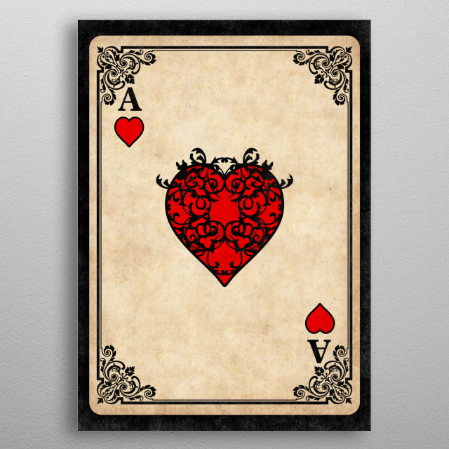 Ace of Hearts metal poster