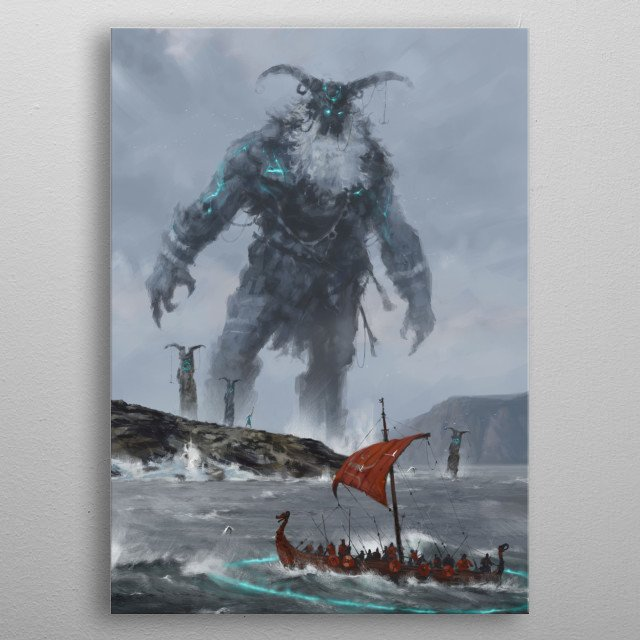at the edge of the world   metal poster