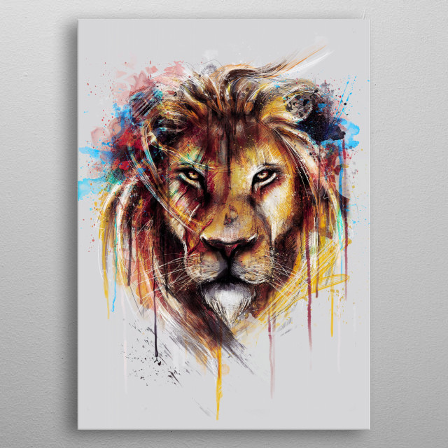 Lion (Alpha Series) metal poster
