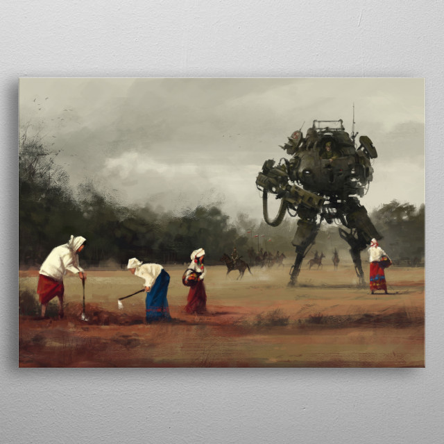 Fascinating metal poster designed by Jakub Rozalski. Displate has a unique signature and hologram on the back to add authenticity to each design. metal poster