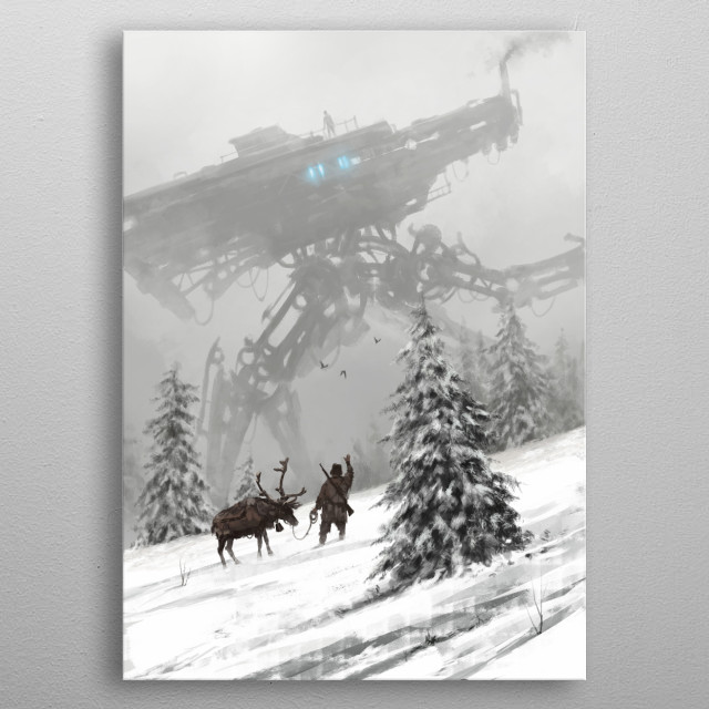 1920 - winter walker  from my 1920+ world and Scythe game,  cheers! metal poster