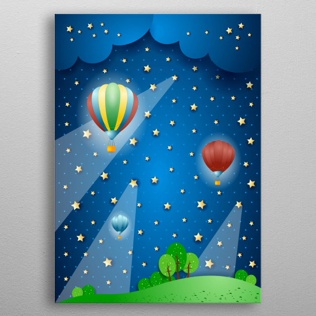High-quality metal print from amazing Surreal And Fantasy collection will bring unique style to your space and will show off your personality. metal poster