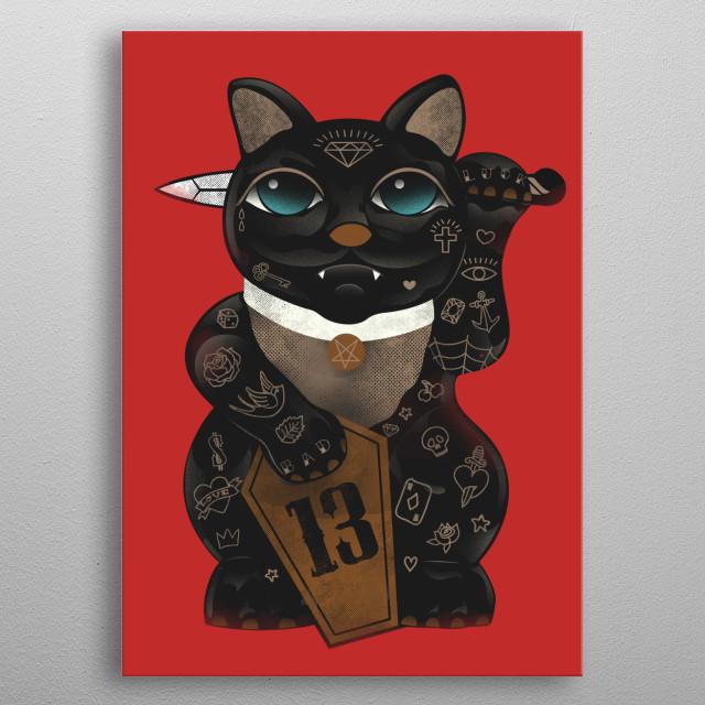 Black Cat metal poster