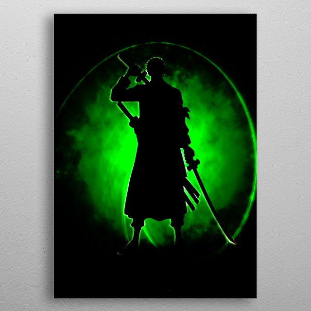 Green Zoro metal poster