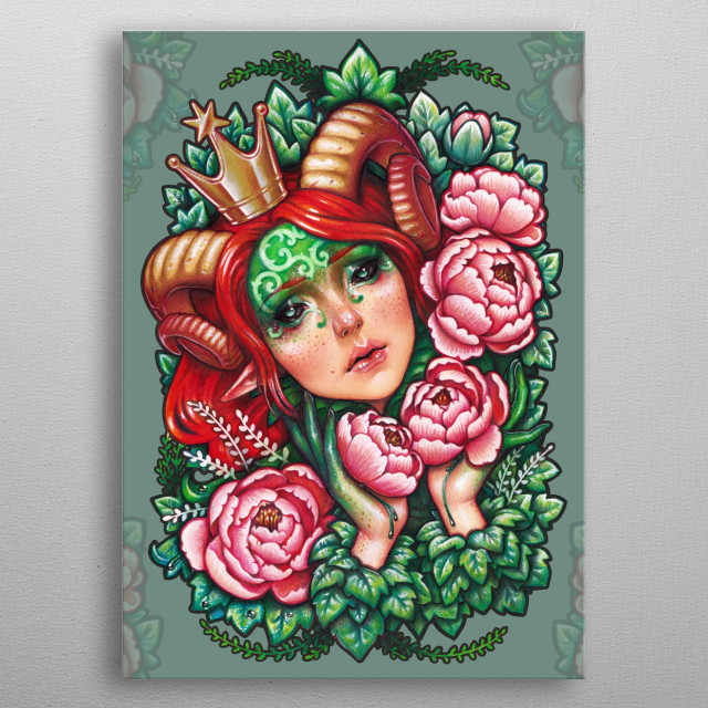 This is my take on Titania, Fairy Queen of Midnight summer Dream by Shakepeare metal poster