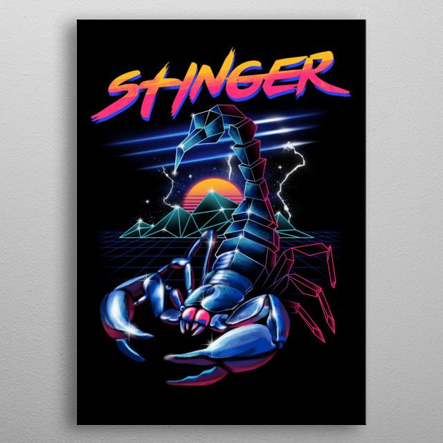 Stinger metal poster