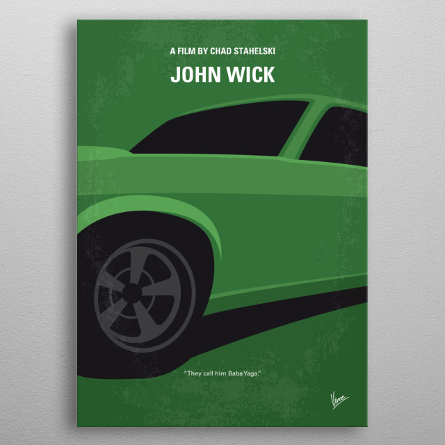 No759 My John Wick minimal movie poster  An ex-hitman comes out of retirement to track down the gangsters that took everything from him.  Directors: Chad Stahelski, David Leitch Stars: Keanu Reeves, Michael Nyqvist, Alfie Allen metal poster