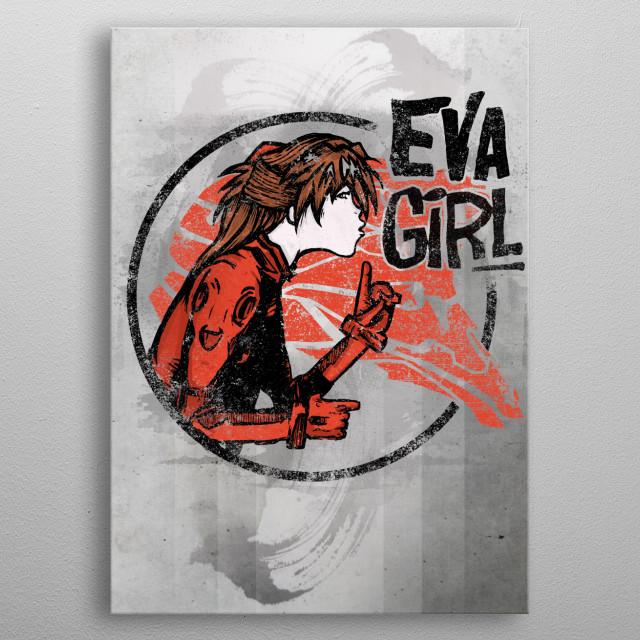 Eva Girl metal poster
