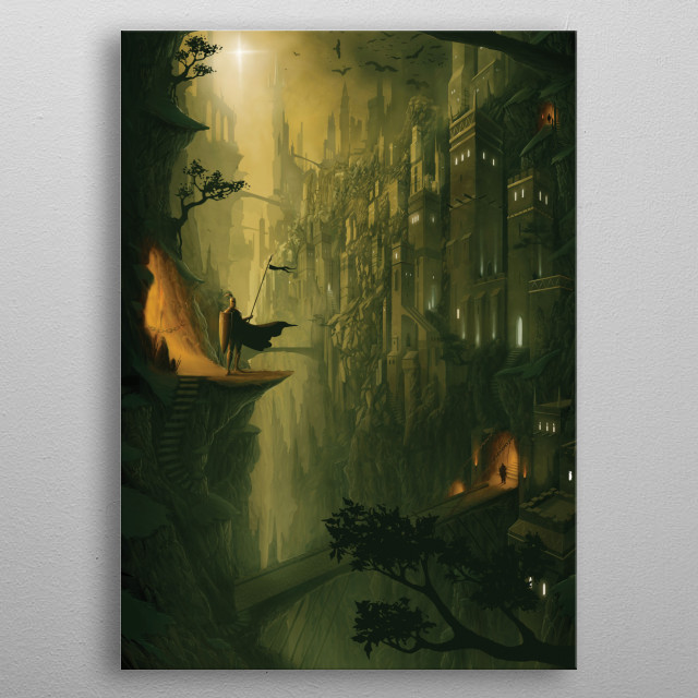The Lost City, digital painting (Photoshop) metal poster