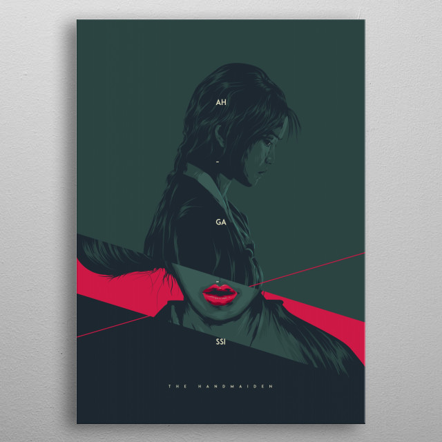 The Handmaiden metal poster