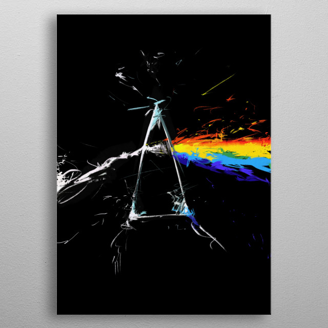the dark side of the splatter ! metal poster