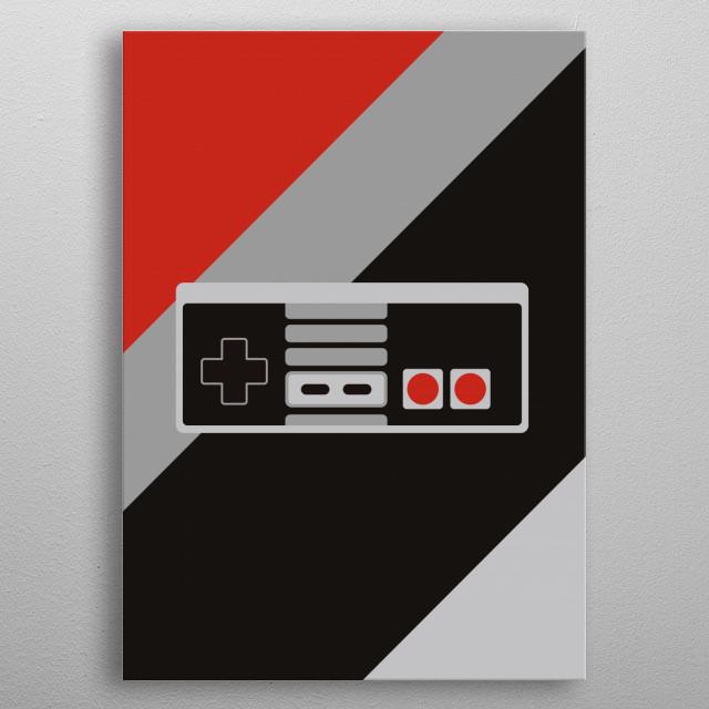 NES Controller 4 metal poster