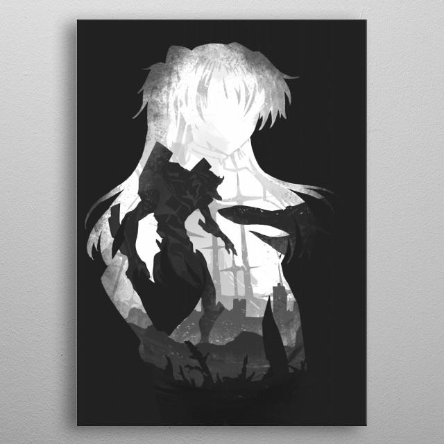 Monochrome Pilot Asuka metal poster