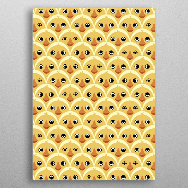 Cute Baby Chickens metal poster