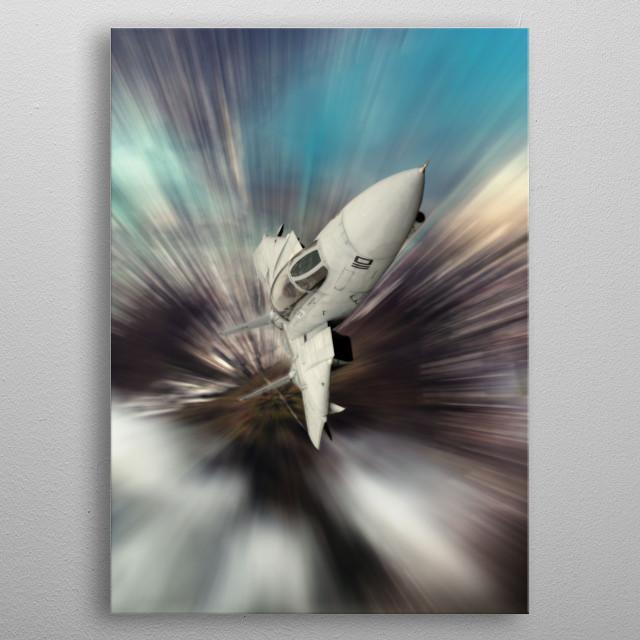 US Navy F14 Tomcat performance Climb metal poster