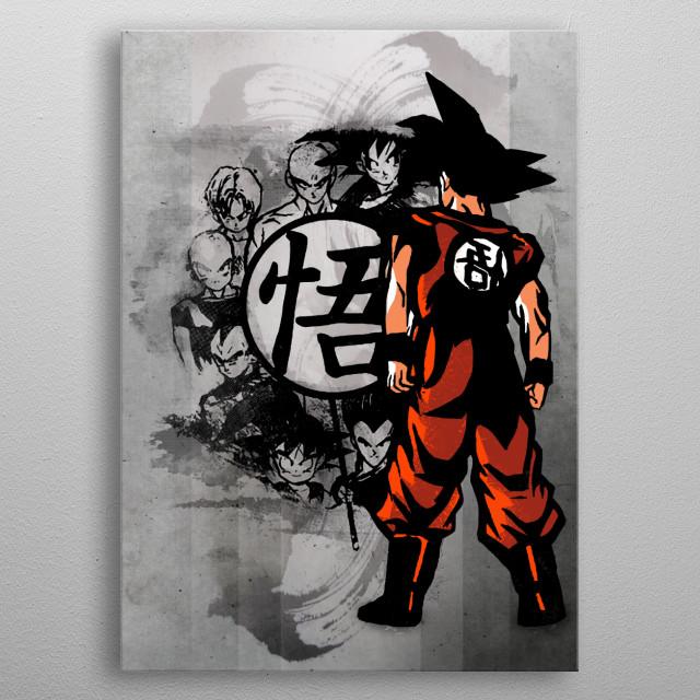 Saiyans metal poster