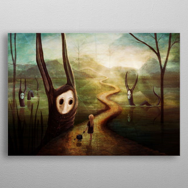 """""""May we pass by?"""" metal poster"""