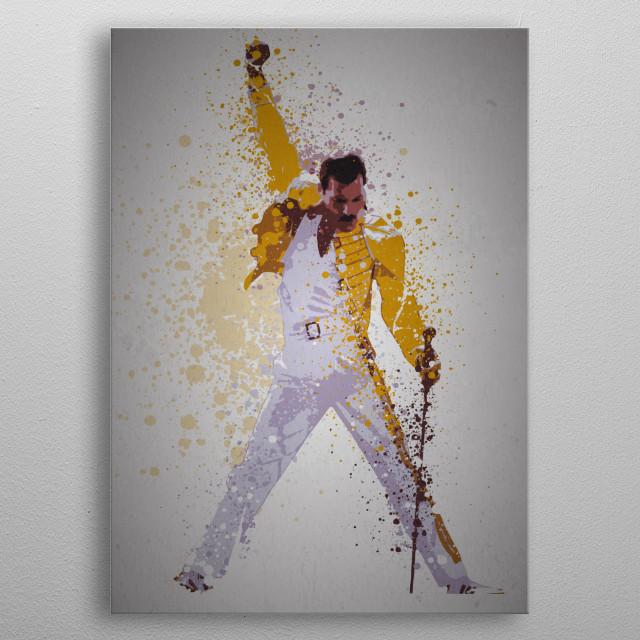 """Killer Queen"" Music Legends Splatter Inspired by Freddie Mercury metal poster"