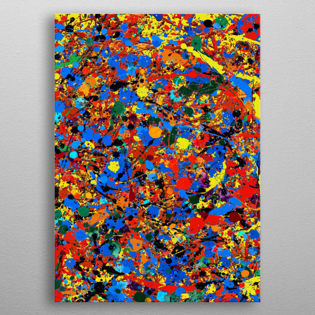 Abstract #744 (Veronica) is a digital version of an abstract acrylic painting -- inspired by Jackson Pollock -- by Ron Trickett. metal poster