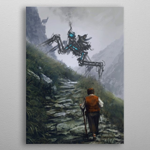 Fascinating  metal poster designed with love by jakubrozalski. Decorate your space with this design & find daily inspiration in it. metal poster