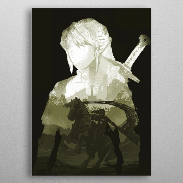 In the depths of the land there is a hero, a hero they ... metal poster