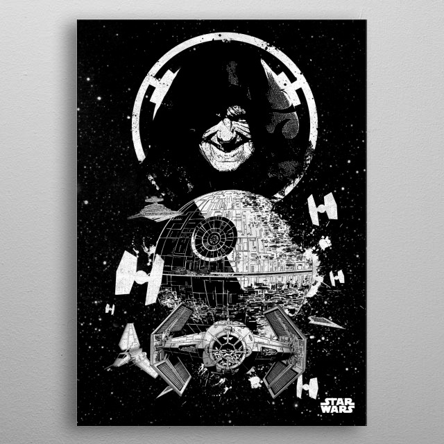 Death Star metal poster
