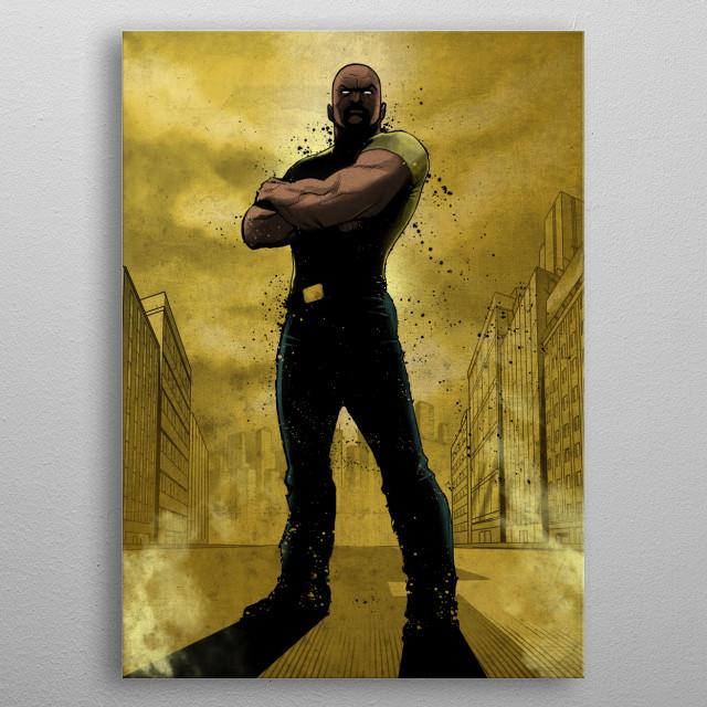 Luke Cage metal poster