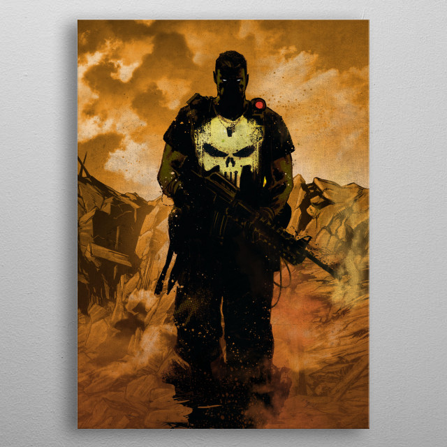 Punisher metal poster