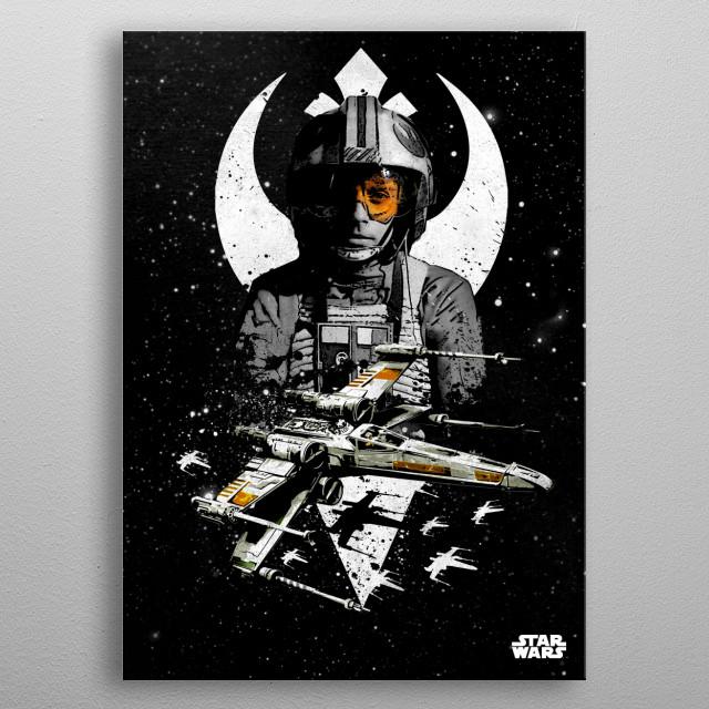 X-Wing metal poster