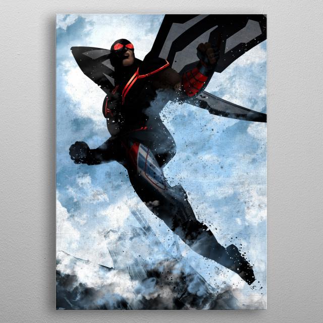Falcon metal poster