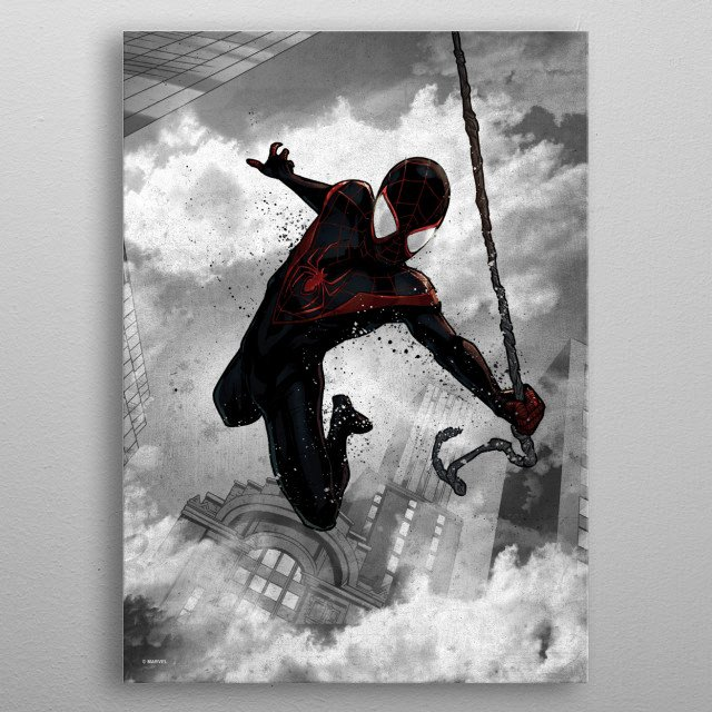 Spider-Man (Miles Morales)  metal poster