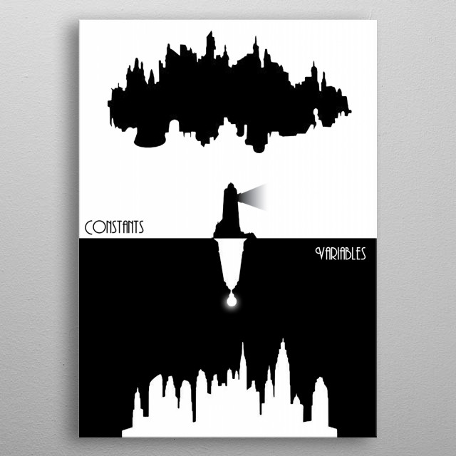 Bioshock Infinite Constants and Variables metal poster