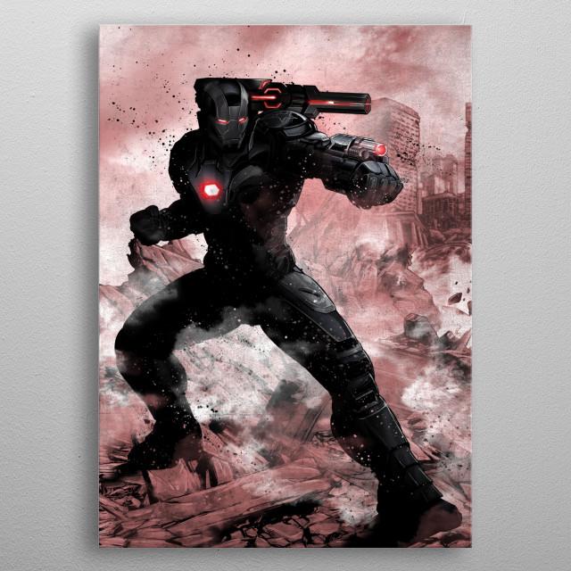 War Machine metal poster