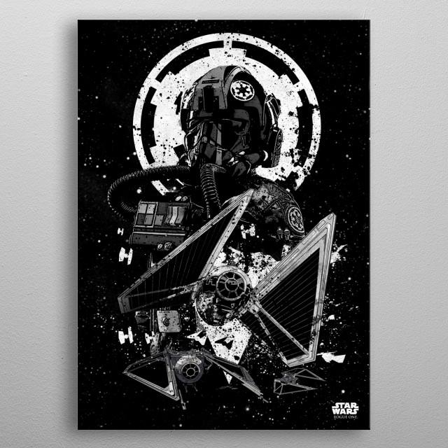 TIE Striker metal poster