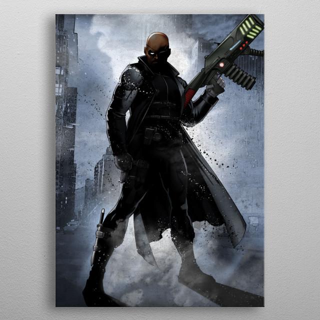 Nick Fury metal poster