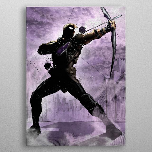 Hawkeye metal poster